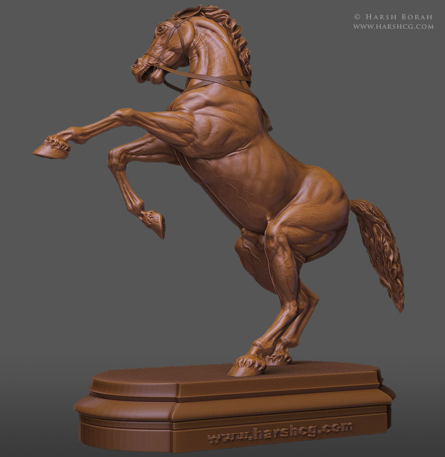 small horse statue 3d - photo #47