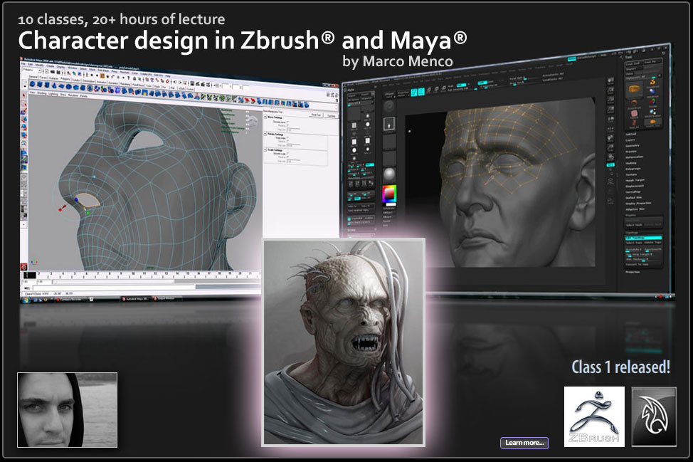 Character Design in Zbrush and Maya
