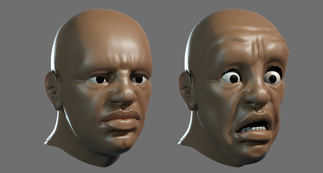 Blending Displacement For Facial Animation In 3DS MAX