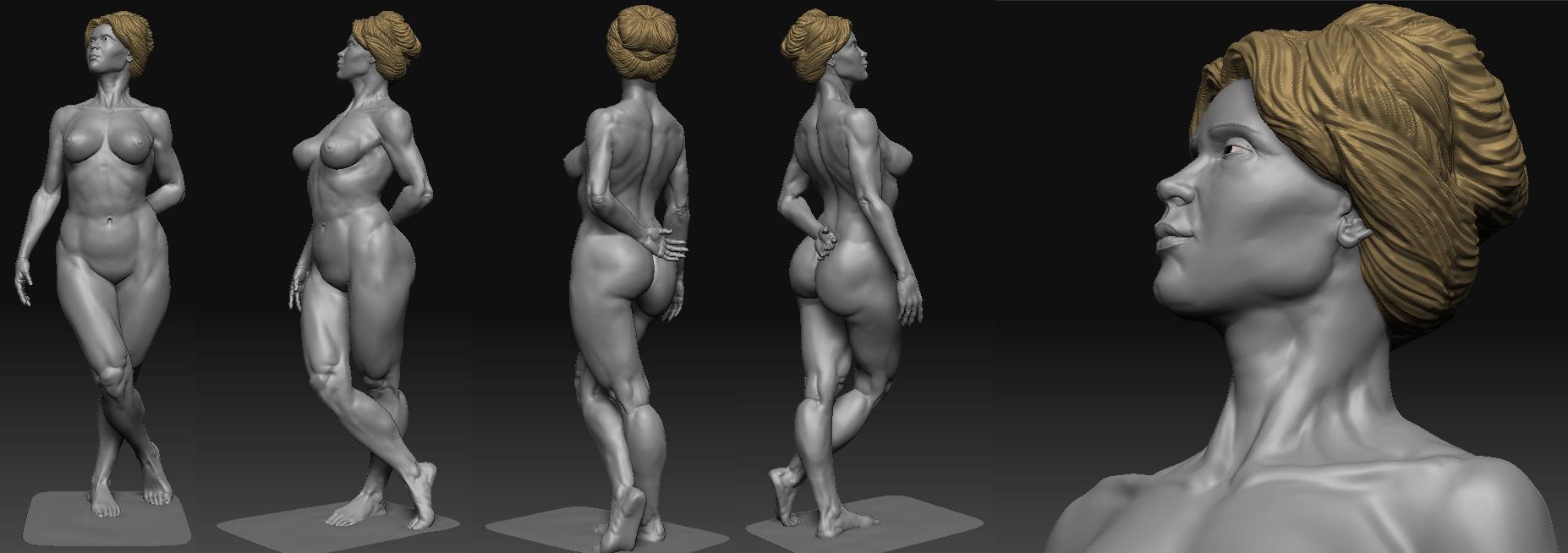 Anatomy Study - Frazetta style!