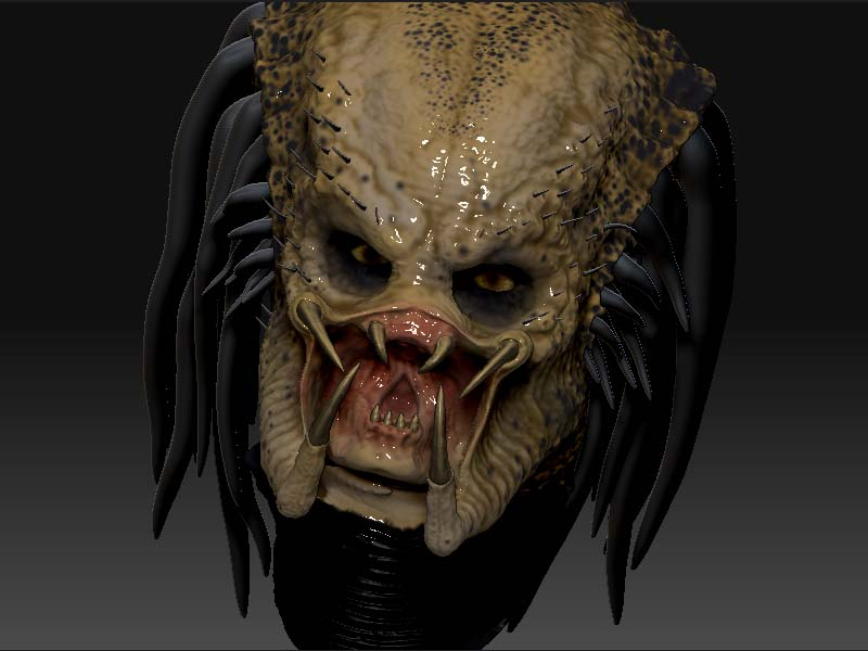 3D Face Scanning and zbrush 3D Printing predator