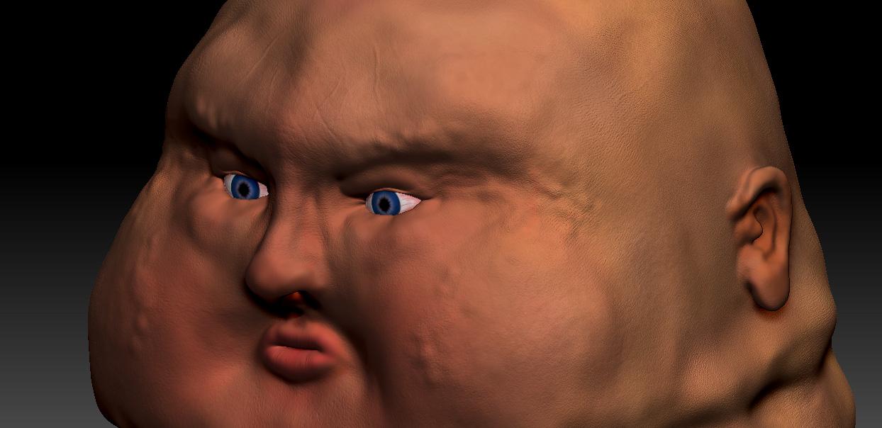 fat guy head