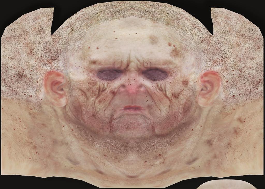 Old Man Head Wip