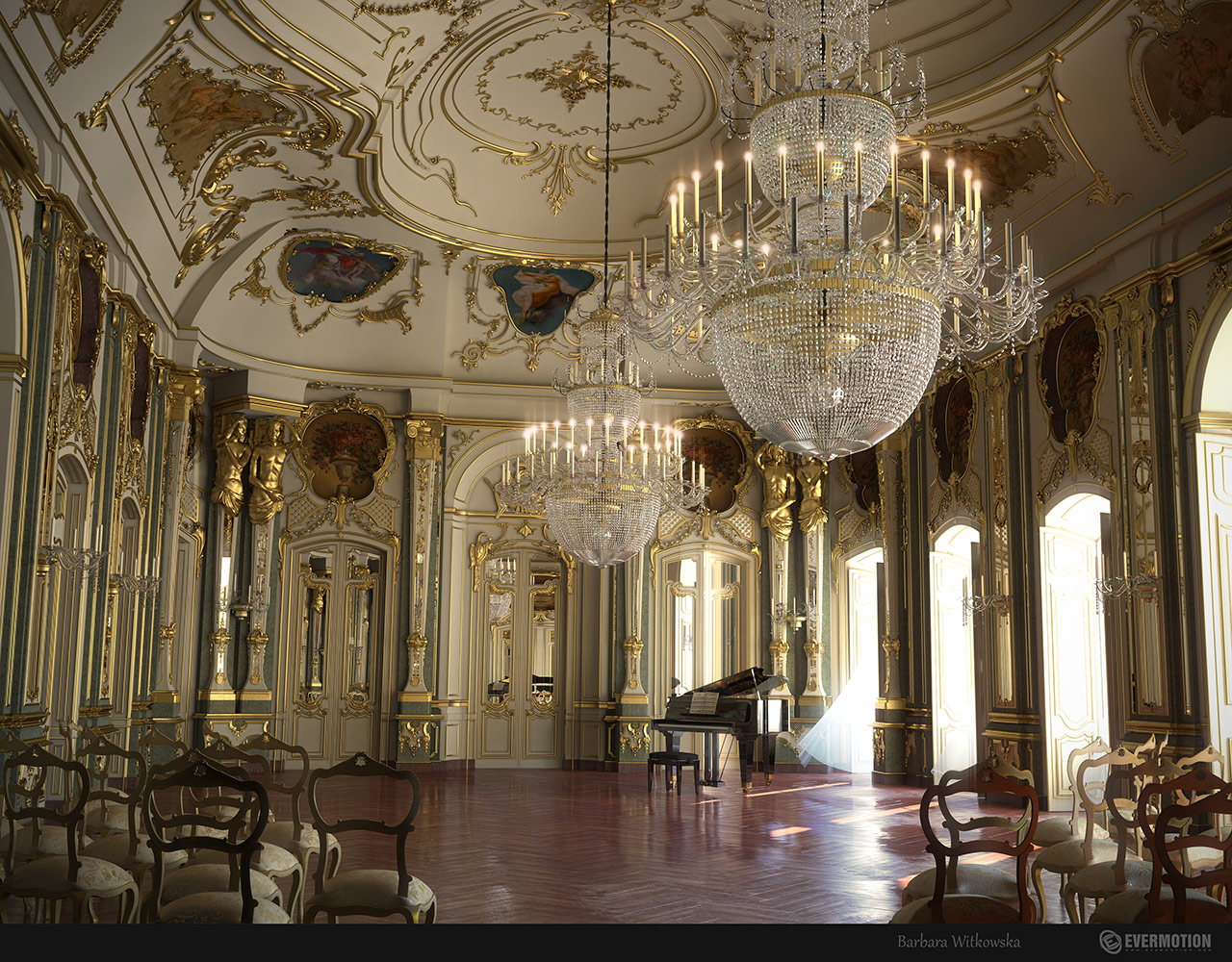 Baroque interior for Royal classic house