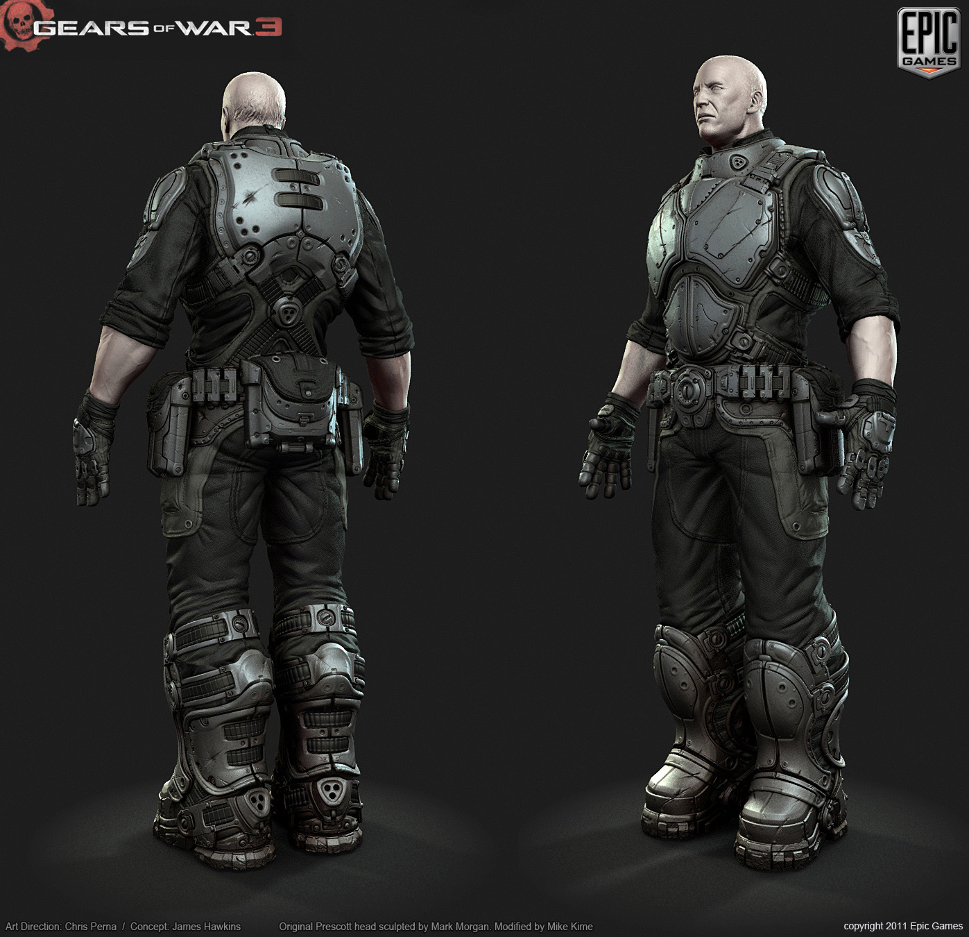 Gears Of War 3 Character Art Dump New Images Posted On