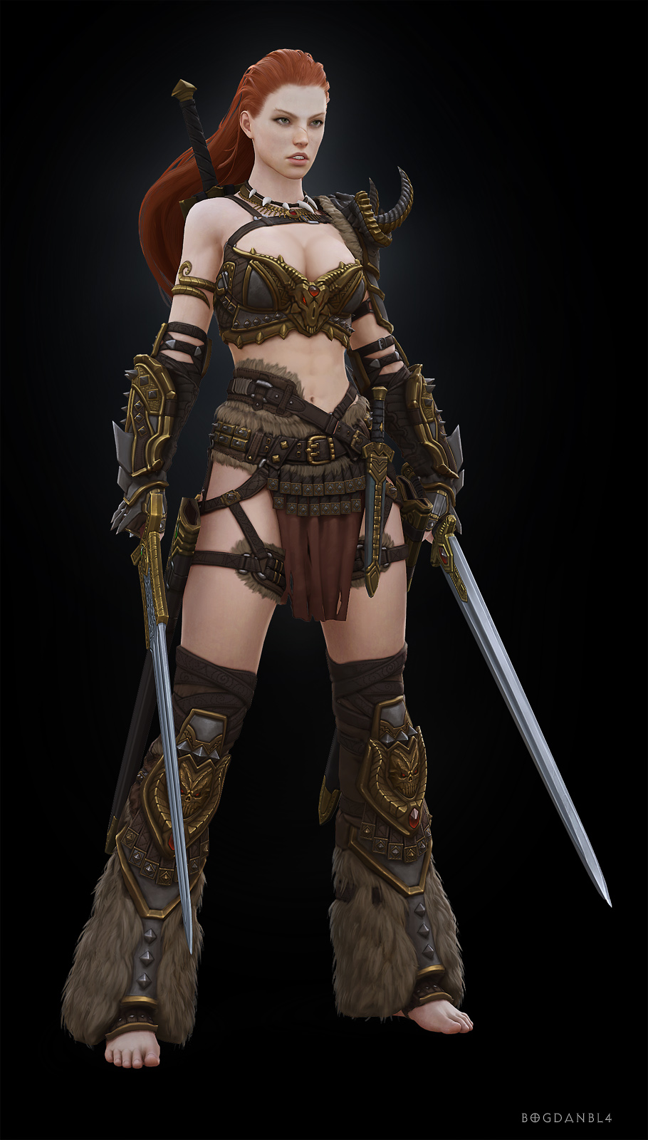 Girl barbarian from diablo 3 naked fucking pic