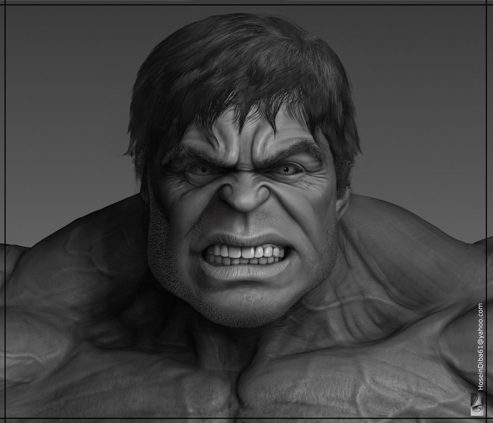 1e41000ce In this post you will see The Incredible Hulk 3D Art by HOSSEIN DIBA. Hope  everyone would love that. Give your feedback in comment box.