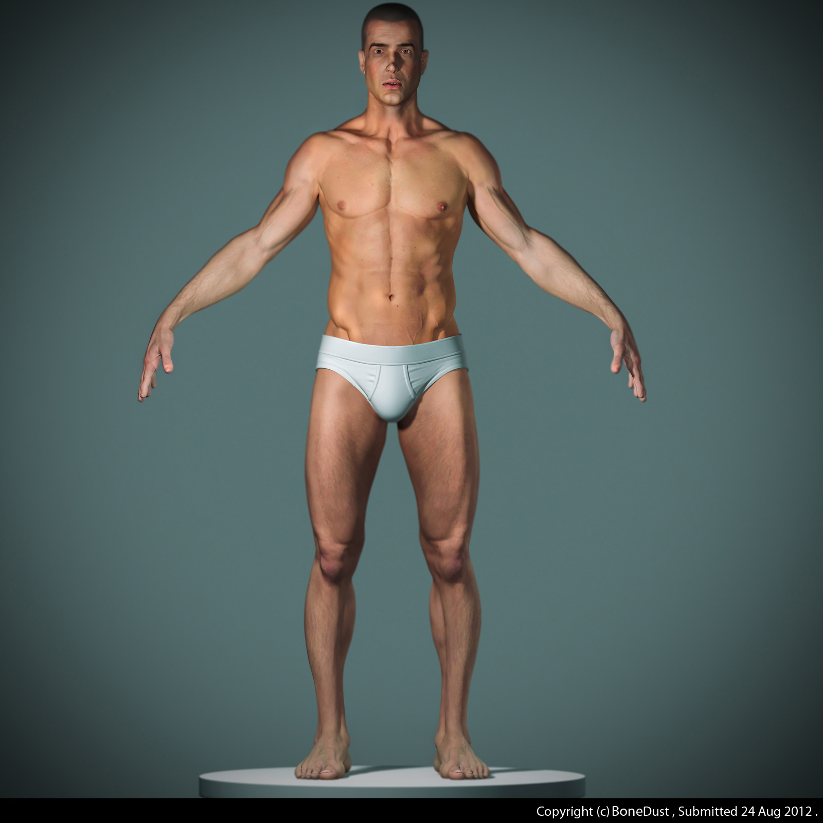 realistic male figure 3d