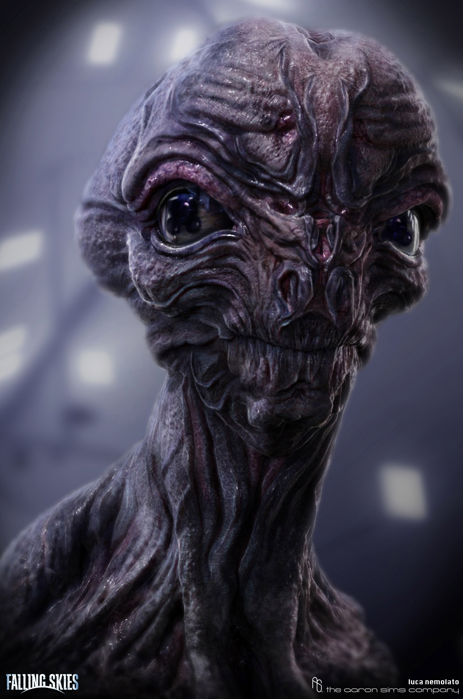 falling skies season 2 alien head design