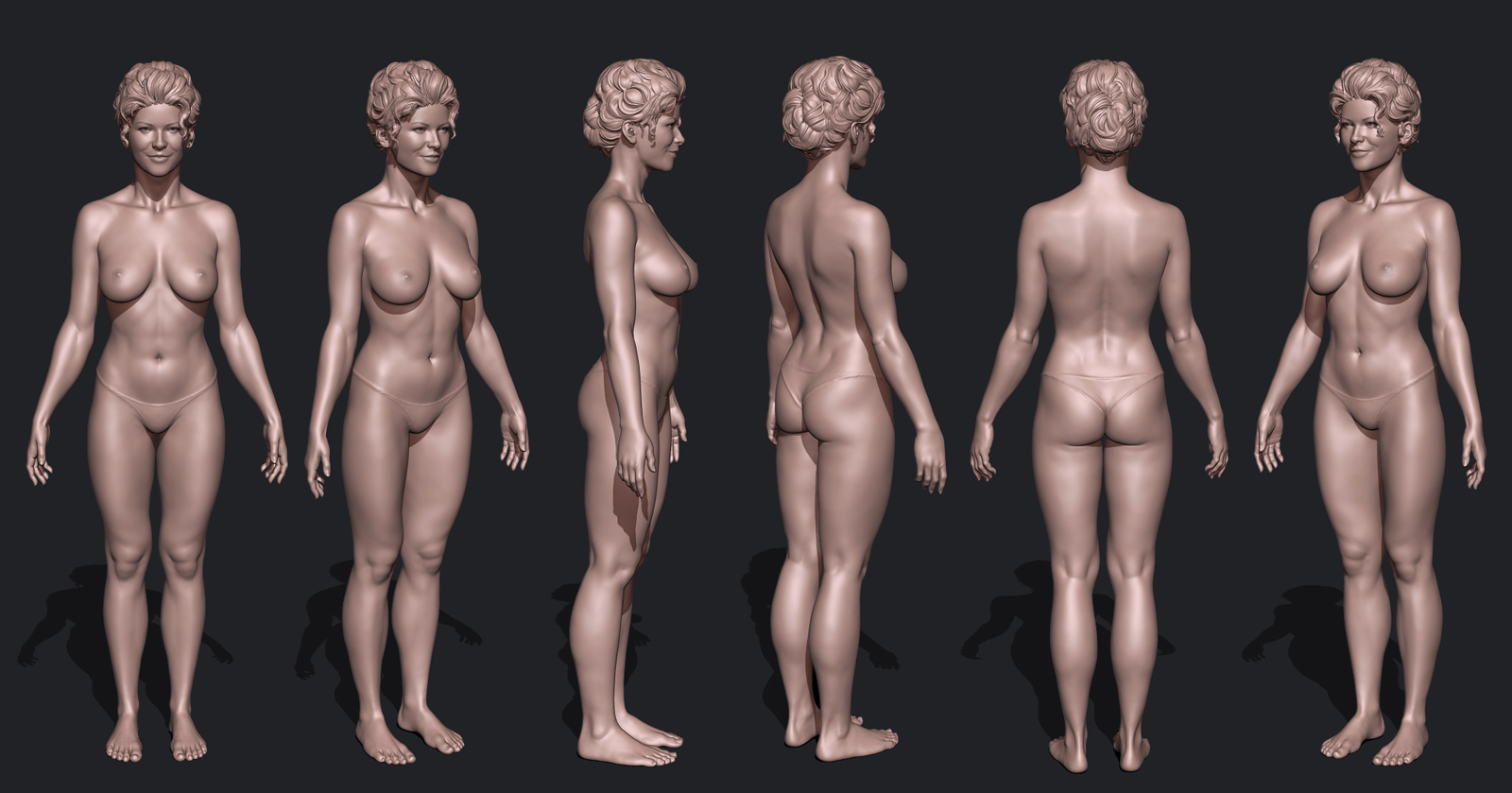 Create nude female 3d adult scene