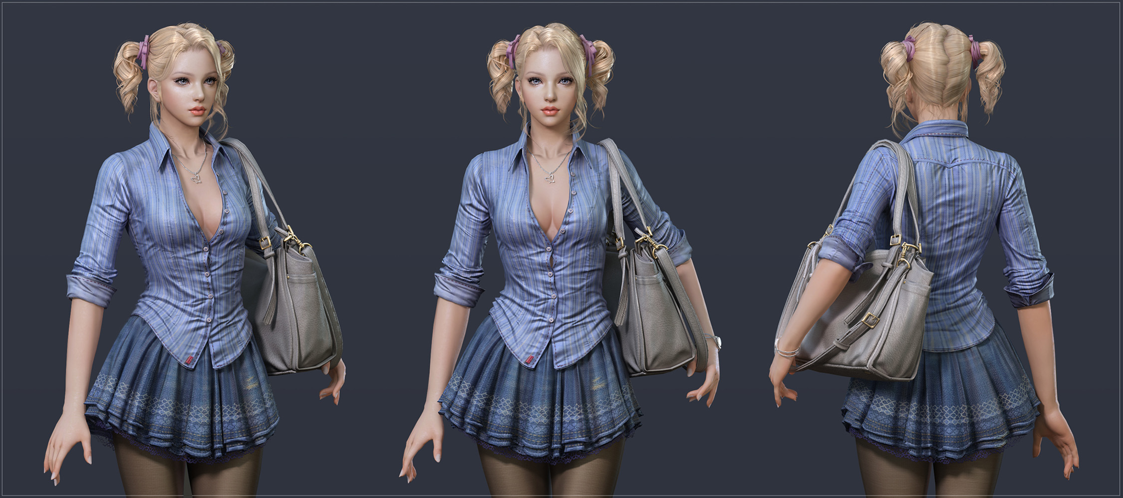 3d model of blonde - photo #39