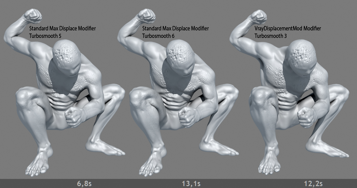 Jonfer maia - displacement map - zbrush to 3ds max v-ray workflow