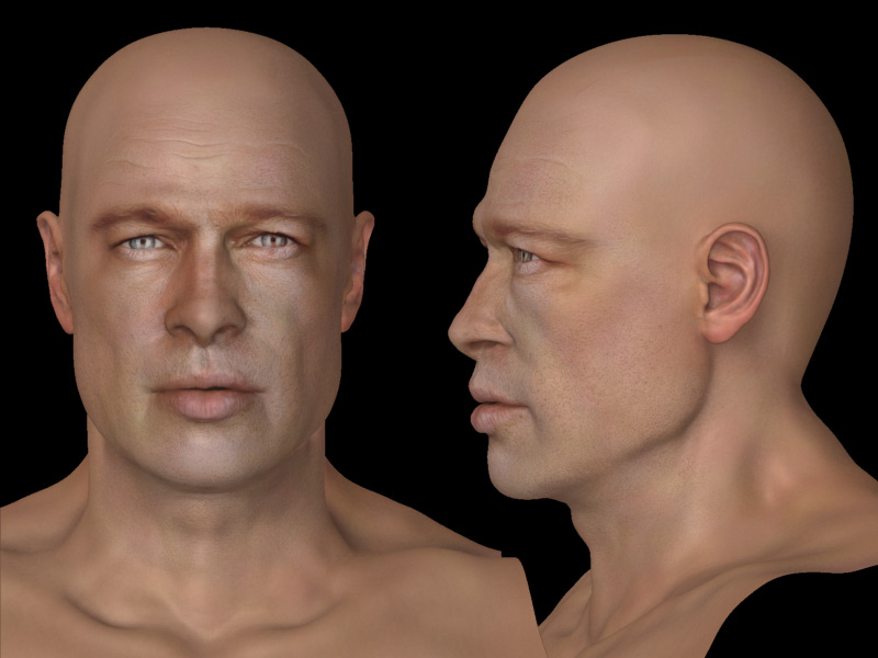 face reference front and side female face reference for 3d modeling