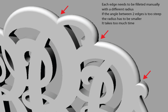 Can Sculptris fillet the edges of a polysurface faster and