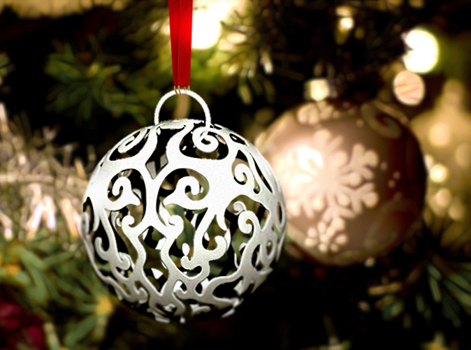 3d Printed Christmas Ornaments.Christmas Ornaments Zbrushing For 3d Print