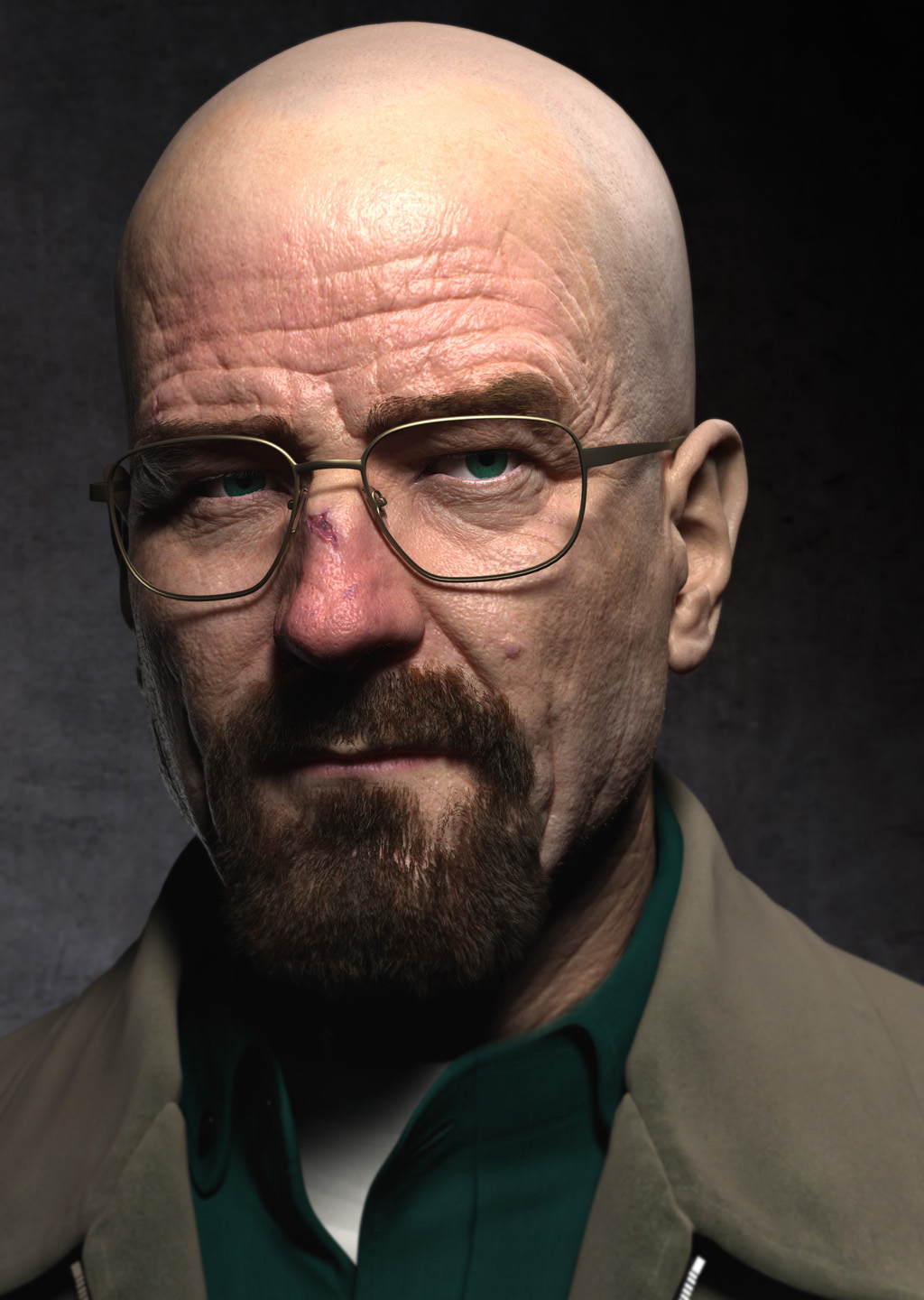 Walter White with a goatee | Image via Reddit