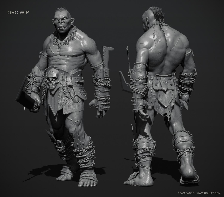 3d orcs naked comic