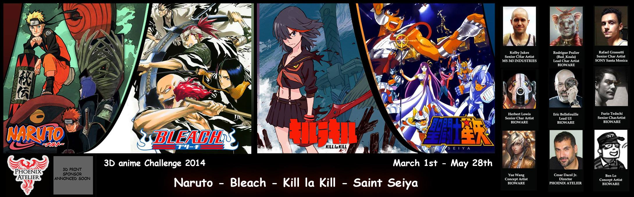 New Anime Contest - Naruto - Bleach - Saint Seiya - Kill la Kill