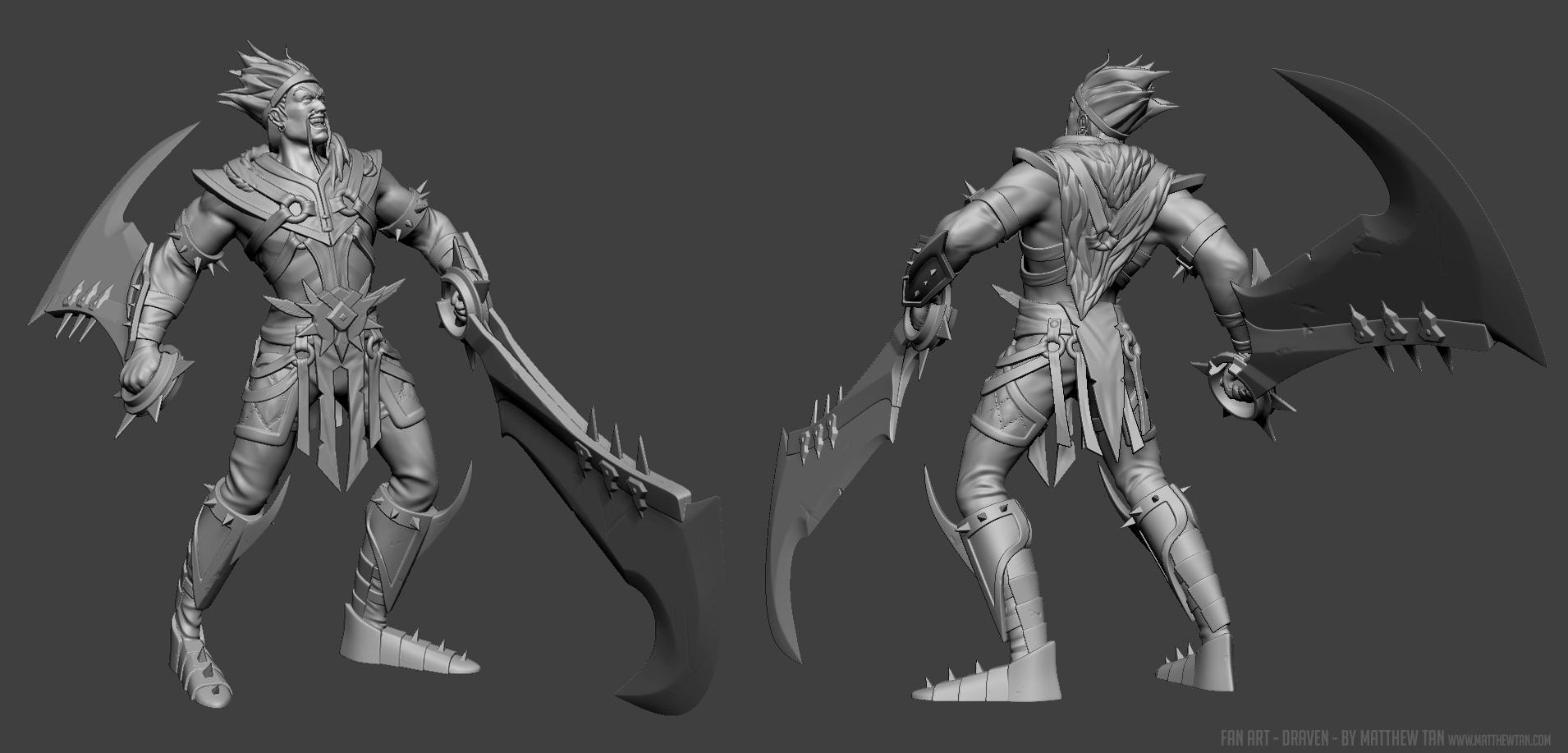 Thread: League of Legends Draven for 3D Print
