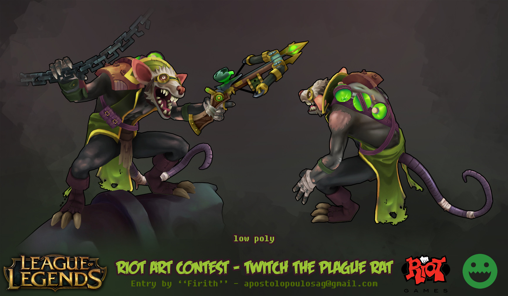 Thread: LoL & Polycount Contest - Twitch the Plague Rat