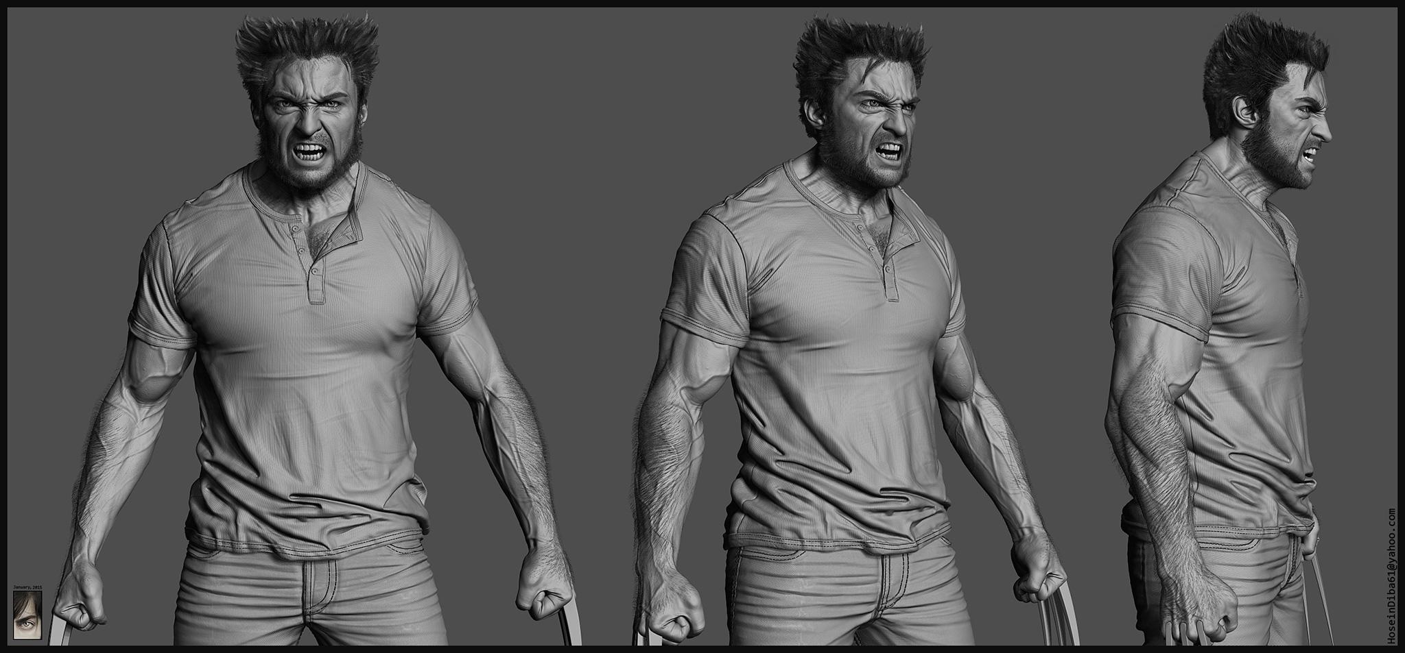 Wolverine 3d Breakdowns By Hossein Diba Zbrushtuts
