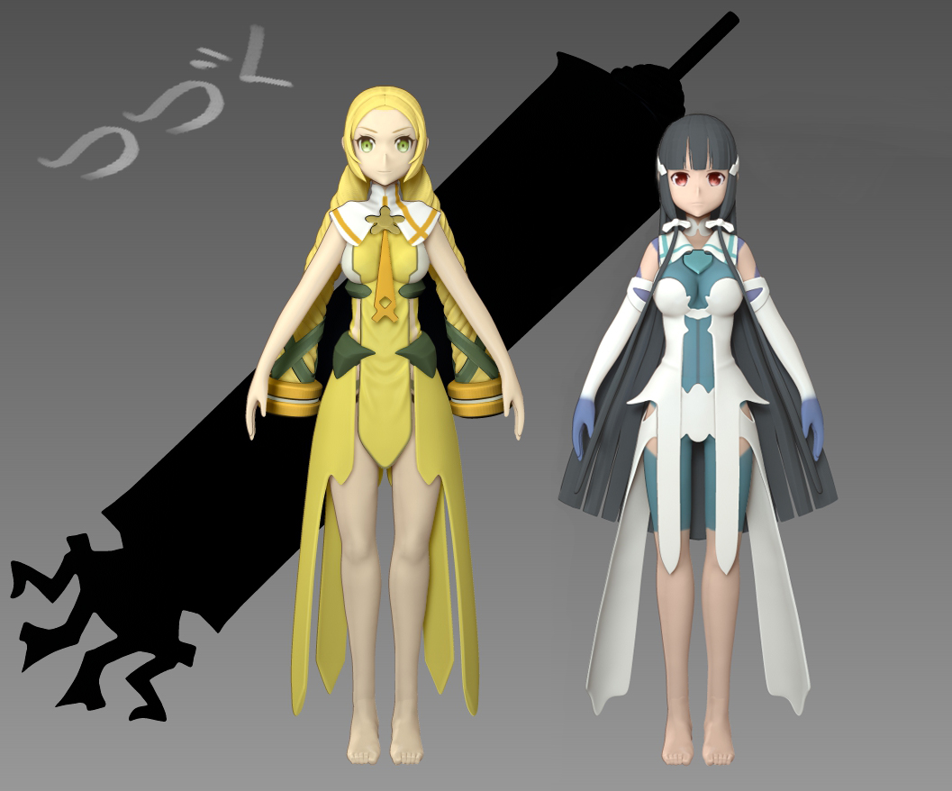 Anime Characters Zbrush : Sculpting anime wip