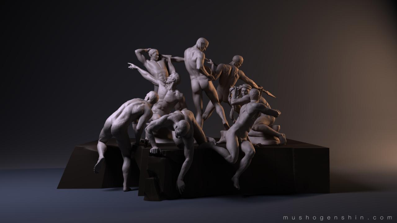 Battle of Cascina - First Eight Warriors WIP