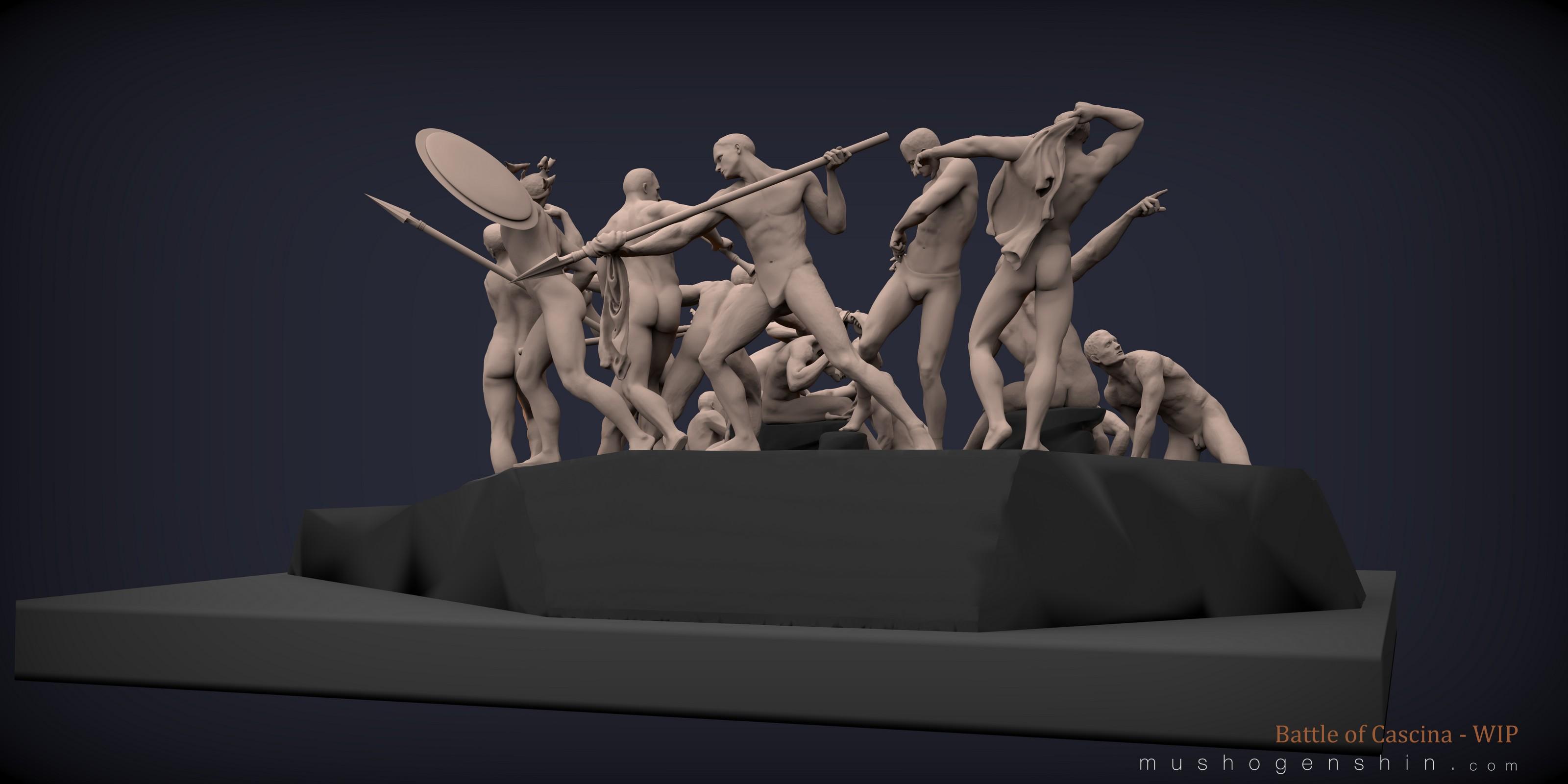 Battle of Cascina - WIP: 16 of 18 figures blocked-in