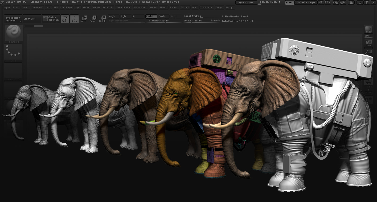 elephant astronaut -#main