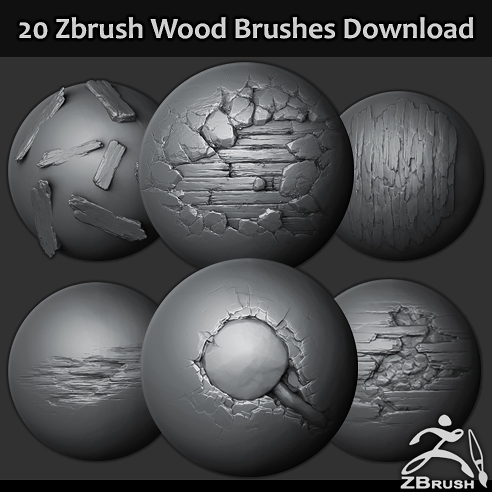 20 Wood brushes/alphas download