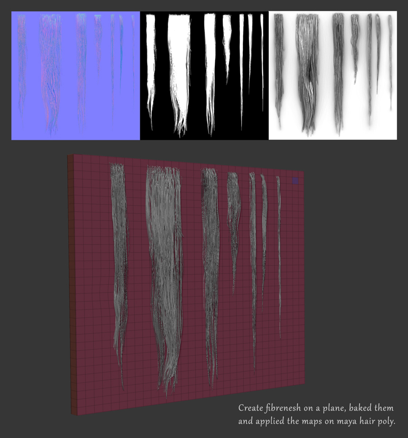 Help with creating hair texture cards with fibermesh? : ZBrush