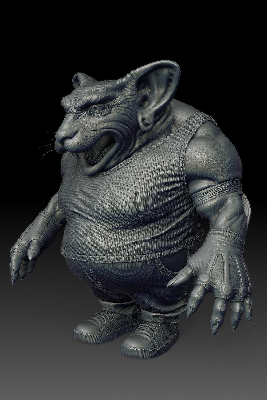 Bad Rat 3D Art by RODRIGO BRAGA – zbrushtuts