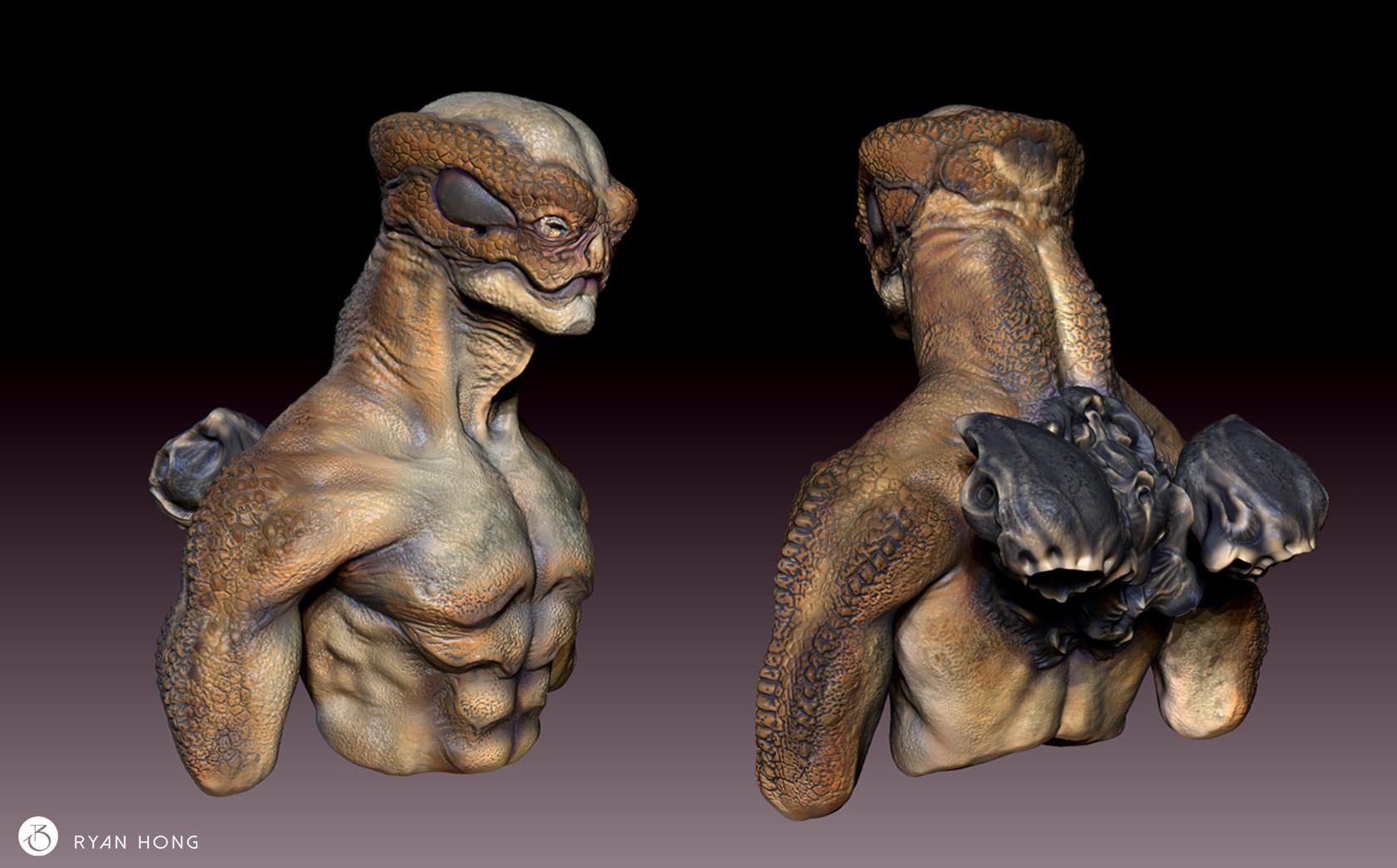 Z Man Lizard Alien Bust, Liz...