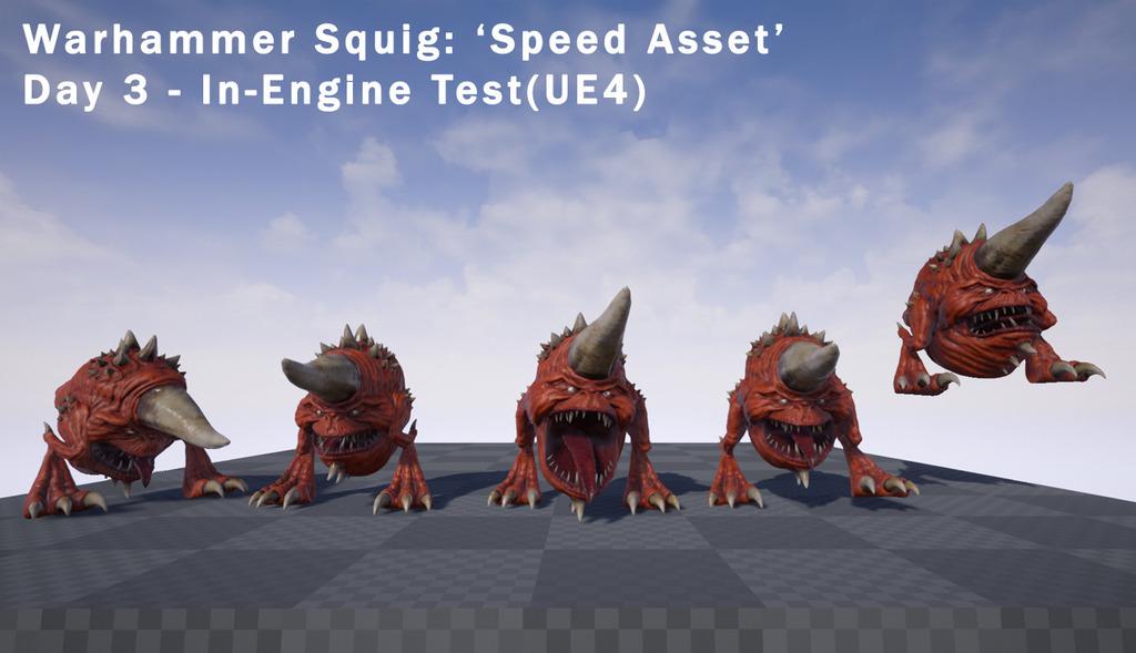 Warhammer Squig 'speed asset'(3-day challenge)