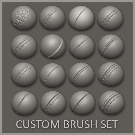 16 Custom Seam/Stitch brushes for zBrush
