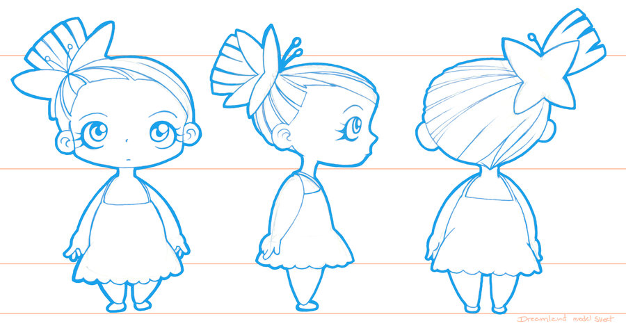 Introduction To Character Design Know Your Basics : Chibi baby girl basic wip