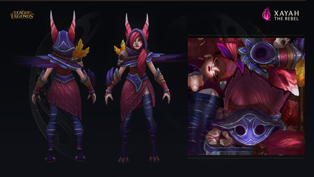 Xayah Character Design : Xayah the rebel league of legends