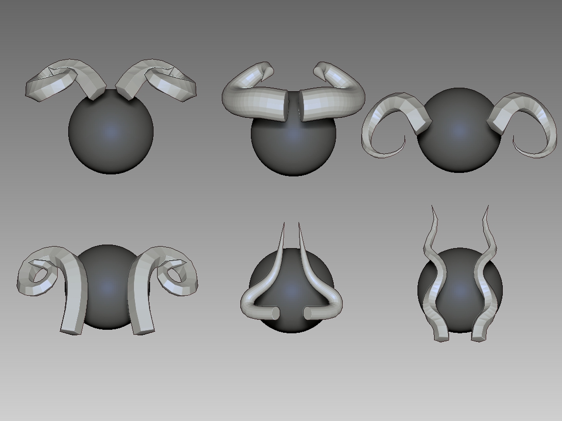 TUTORIAL] How To Create 3d Horns - Maya To Zbrush - Part 1 & 2