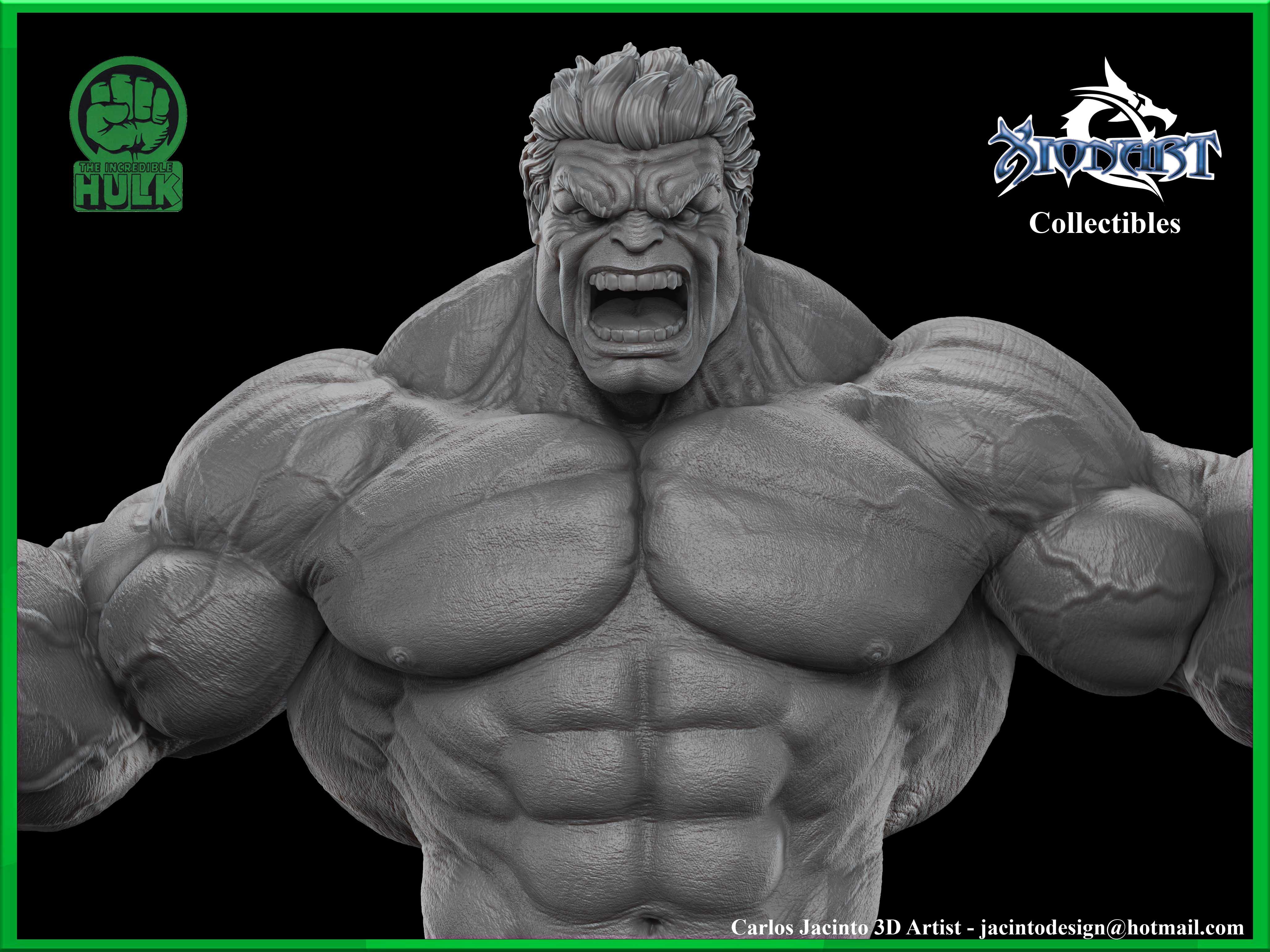hulk 1  4 scale for 3d print