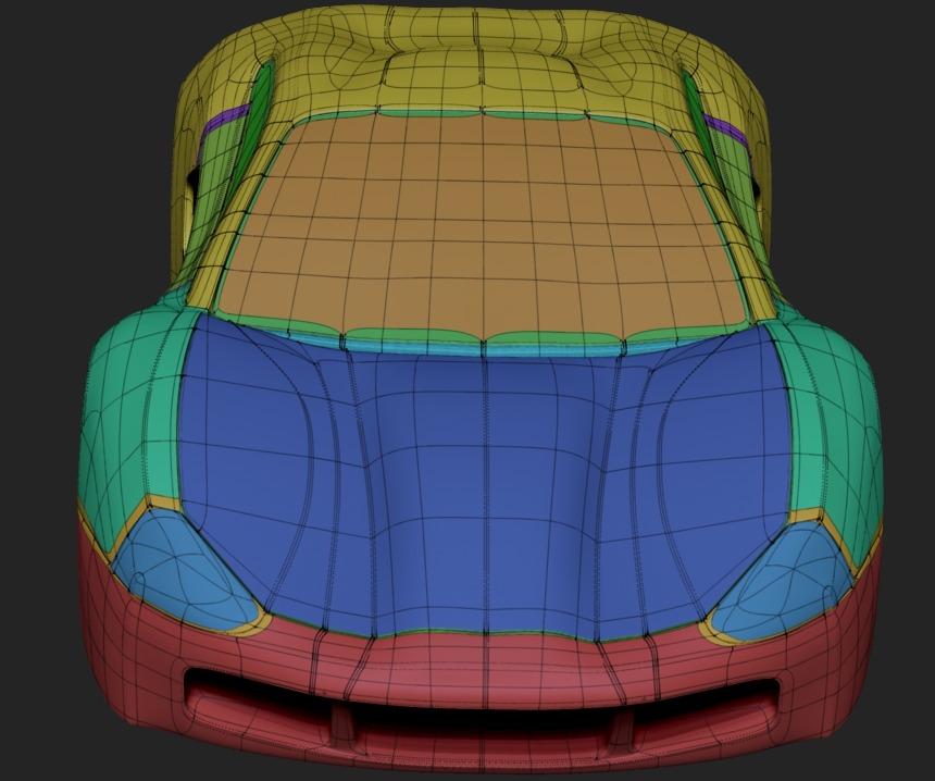 WIP car model alpha state - zmodeler