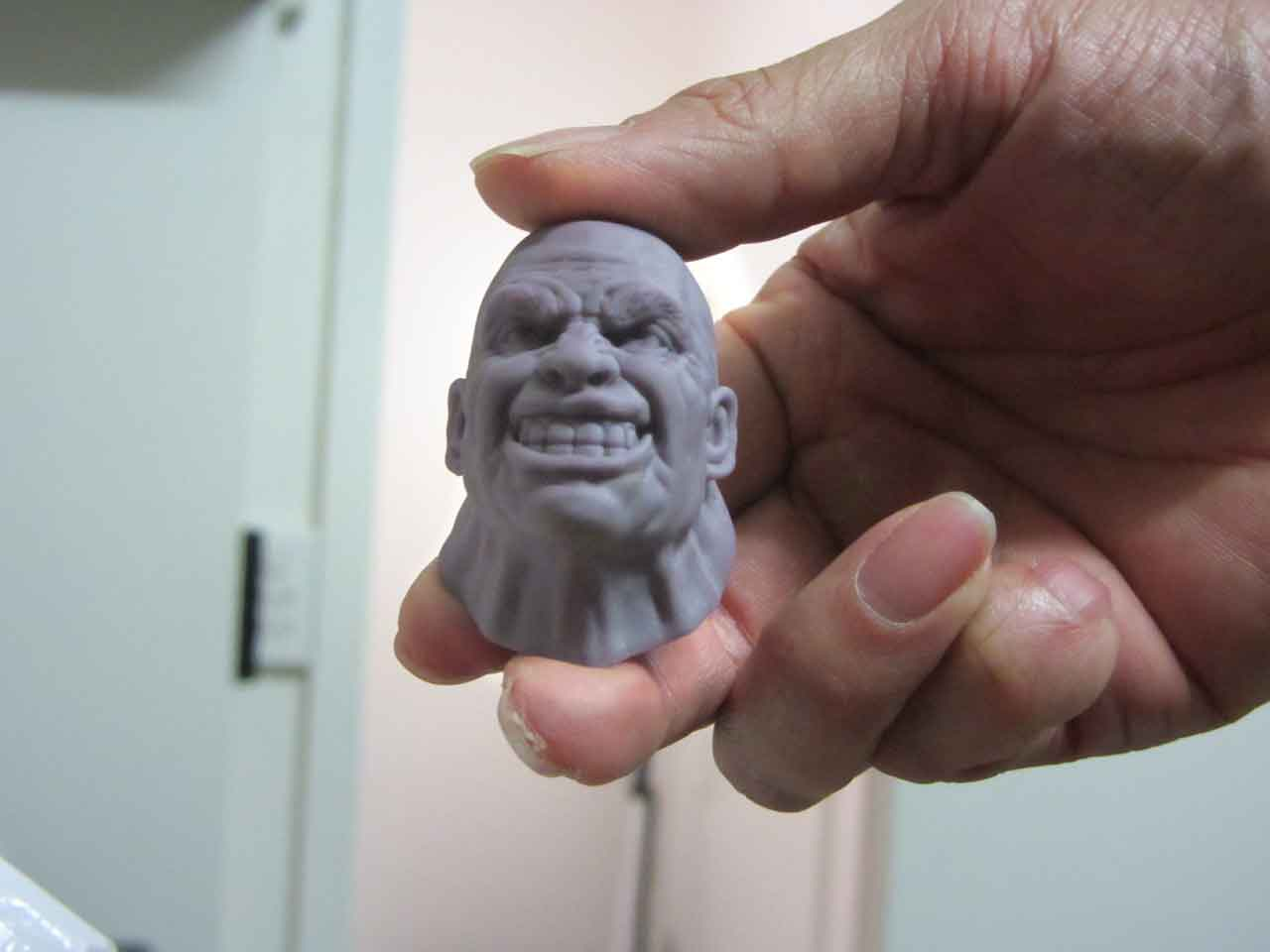 Juggernaut statue sculpt and test prints