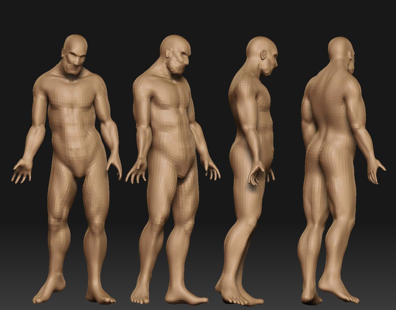 "old master ""vasalius"" male nude"