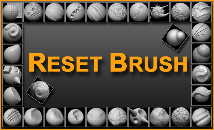 Pixologic Release: Reset Brush - a plugin for ZBrush 3 1